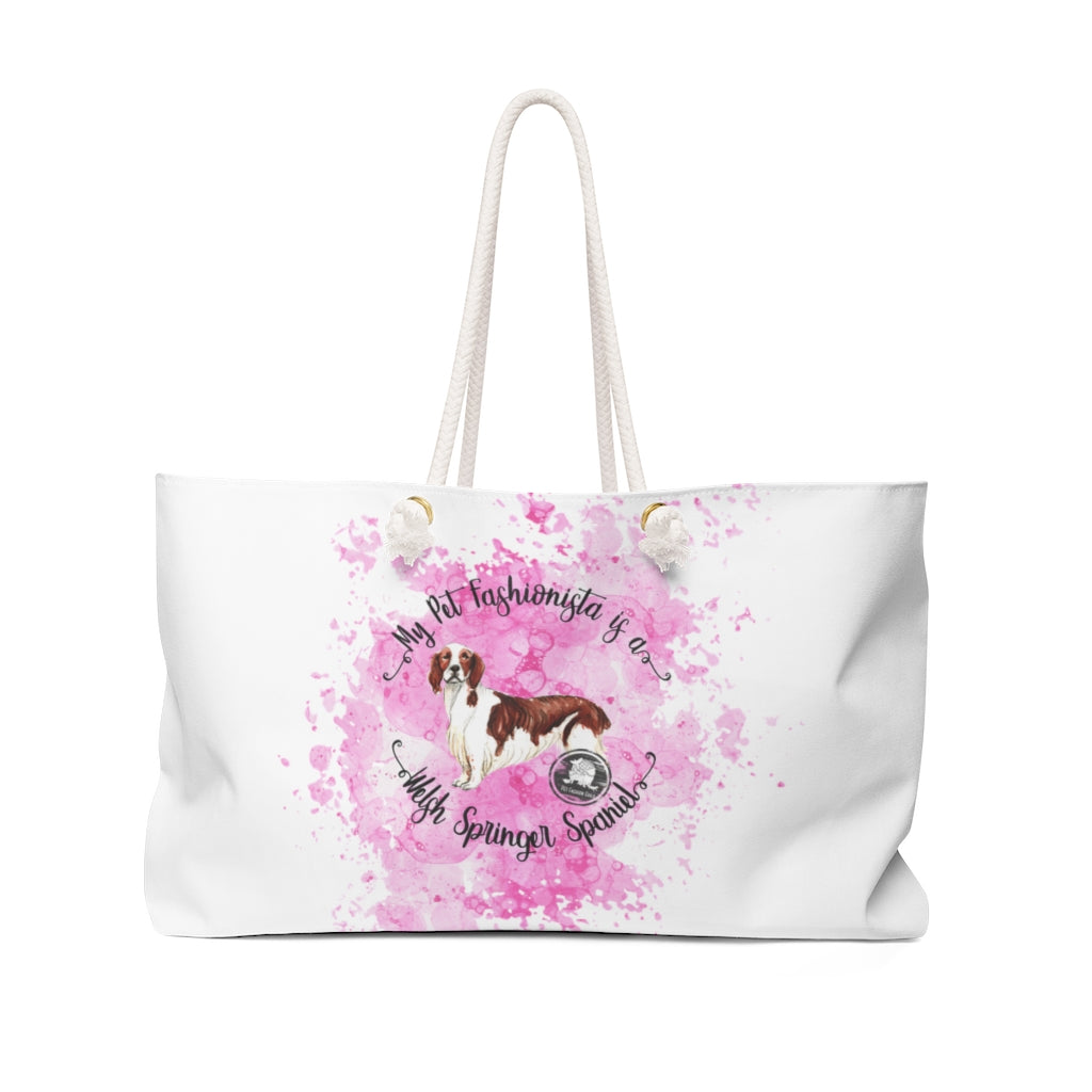 Welsh Springer Spaniel Pet Fashionista Weekender Bag