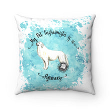 Load image into Gallery viewer, Pyrenees Pet Fashionista Square Pillow