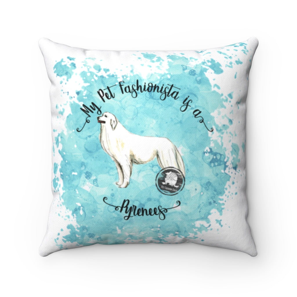 Pyrenees Pet Fashionista Square Pillow