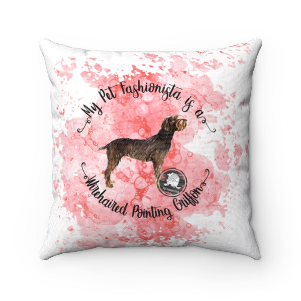 Wirehaired Pointing Griffon Pet Fashionista Square Pillow