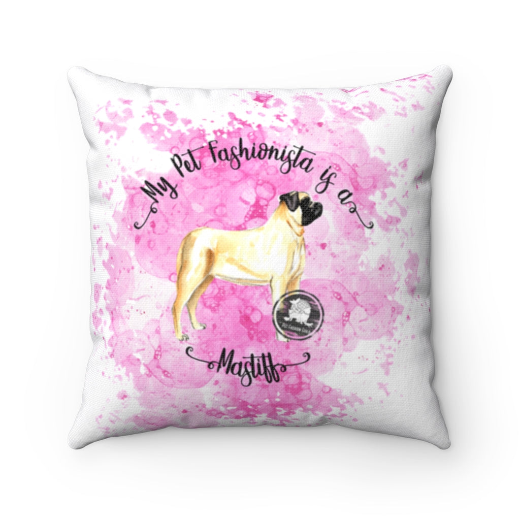Mastiff Pet Fashionista Square Pillow