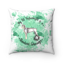 Load image into Gallery viewer, Standard Schnauzer Pet Fashionista Square Pillow