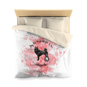 Schipperke Pet Fashionista Duvet Cover