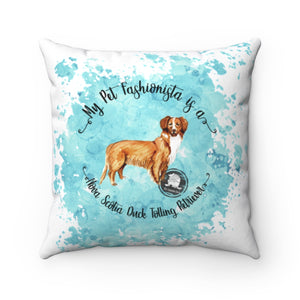 Nova Scotia Duck Tolling Retriever Pet Fashionista Square Pillow