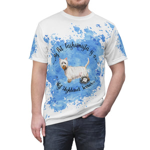 West Highland White Terrier Pet Fashionista All Over Print Shirt