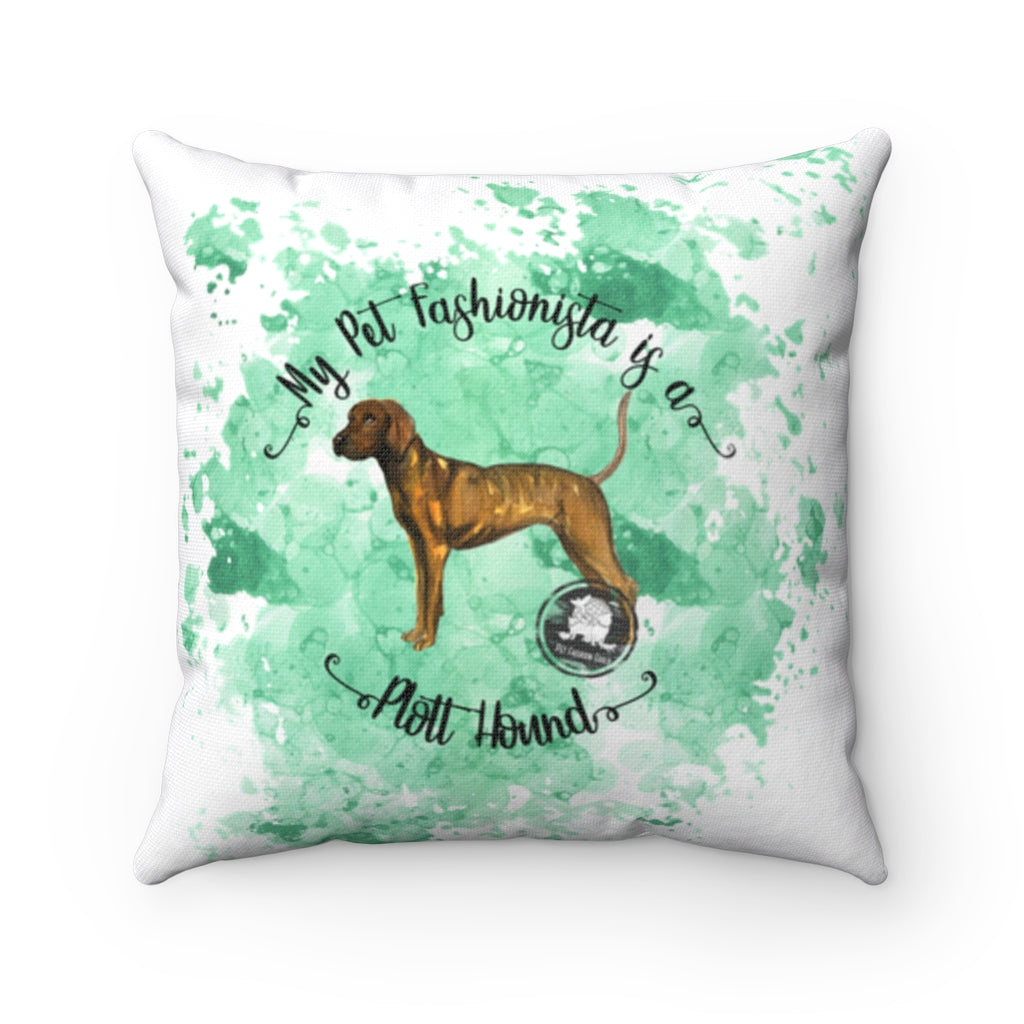 Plott Hound Pet Fashionista Square Pillow