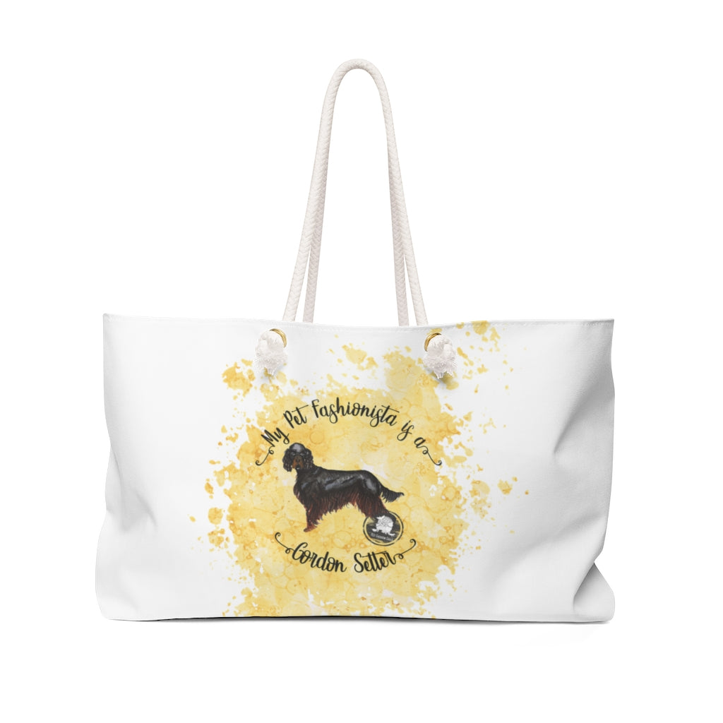 Gordon Setter Pet Fashionista Weekender Bag