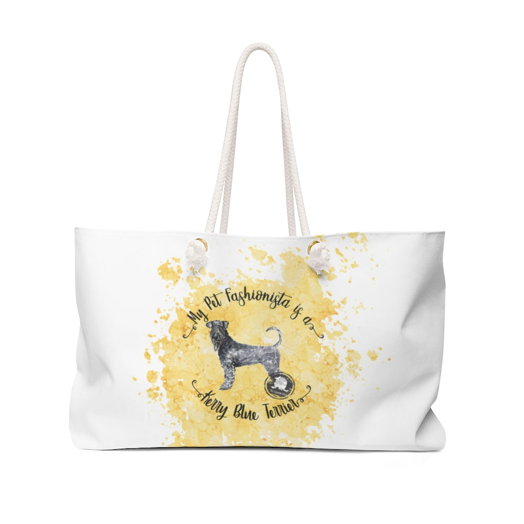 Kerry Blue Terrier Pet Fashionista Weekender Bag