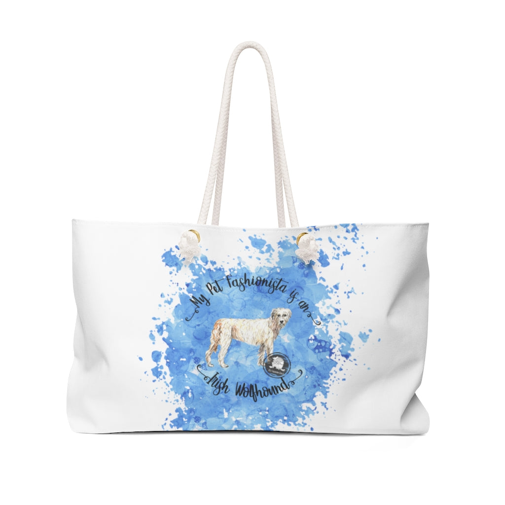 Irish Wolfhound Pet Fashionista Weekender Bag