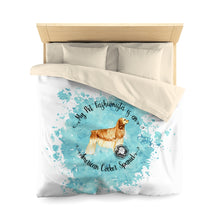 Load image into Gallery viewer, American Cocker Spaniel Pet Fashionista Duvet Cover