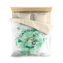 Load image into Gallery viewer, Xoloitzcuintli Pet Fashionista Duvet Cover
