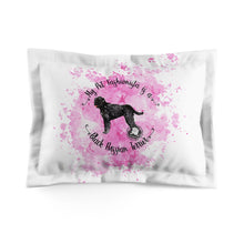 Load image into Gallery viewer, Black Russian Terrier Fashionista Pillow Sham