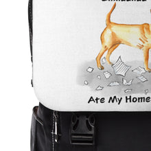 Load image into Gallery viewer, My Short Haired Chihuahua Ate My Homework Backpack