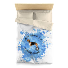 Load image into Gallery viewer, English Foxhound Pet Fashionista Duvet Cover