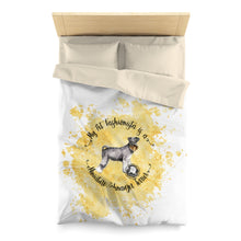 Load image into Gallery viewer, Miniature Schnauzer Pet Fashionista Duvet Cover