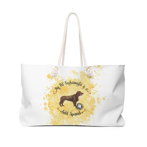 Field Spaniel Pet Fashionista Weekender Bag