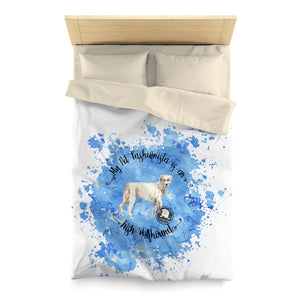Irish Wolfhound Pet Fashionista Duvet Cover