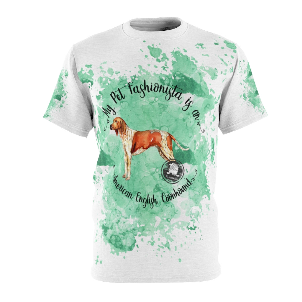 American English Coonhound Pet Fashionista All Over Print Shirt