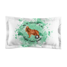 Load image into Gallery viewer, English Cocker Spaniel Pet Fashionista Pillow Sham