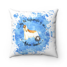 Load image into Gallery viewer, Afghan Hound Pet Fashionista Square Pillow
