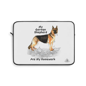 My German Shepherd Ate My Homework Laptop Sleeve