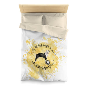 American Staffordshire Pet Fashionista Duvet Cover