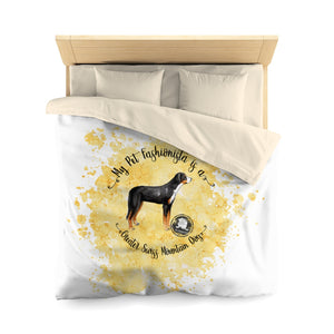 Greater Swiss Mountain Dog Pet Fashionista Duvet Cover