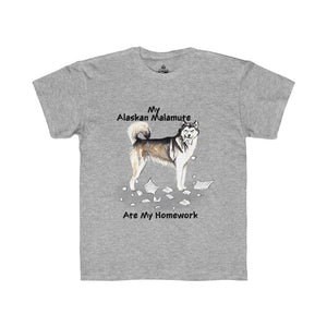 My Alaskan Malamute Ate My Homework Kids Regular Fit Tee