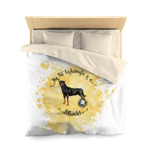 Load image into Gallery viewer, Rottweiler Pet Fashionista Duvet Cover