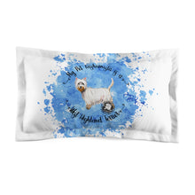Load image into Gallery viewer, West Highland White Terrier Pet Fashionista Pillow Sham