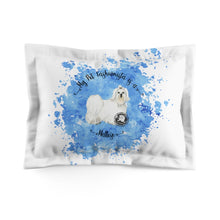 Load image into Gallery viewer, Maltese Pet Fashionista Pillow Sham