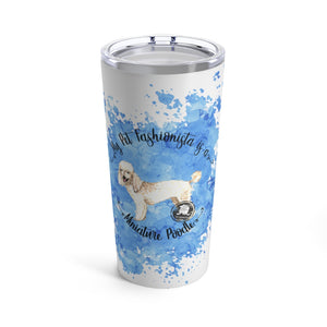 Miniature Poodle Pet Fashionista Tumbler