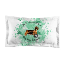 Load image into Gallery viewer, Dachshund (Long haired) Pet Fashionista Pillow Sham