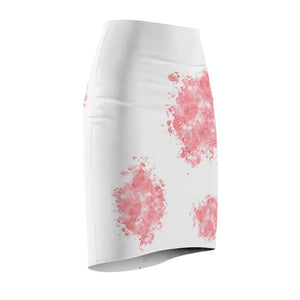 Light Red Splash Pet Fashionista Pencil Skirt