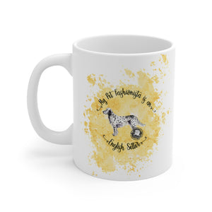 English Setter Pet Fashionista Mug