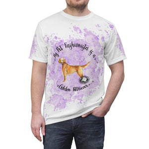 Golden Retriever Pet Fashionista All Over Print Shirt