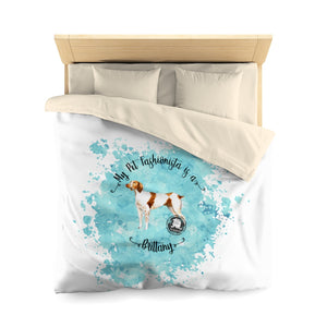 Brittany Pet Fashionista Duvet Cover