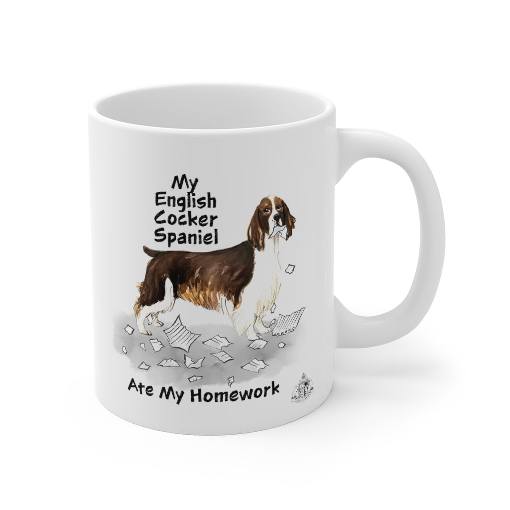 My English Cocker Spaniel Ate My Homework Mug