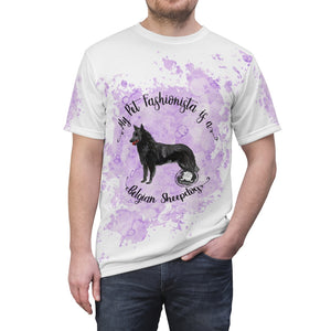 Belgian Sheepdog Pet Fashionista All Over Print Shirt