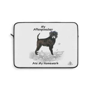 My Affenpinscher Ate My Homework Laptop Sleeve