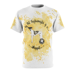 Whippet Pet Fashionista All Over Print Shirt