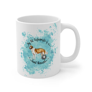 Saint Bernard Pet Fashionista Mug
