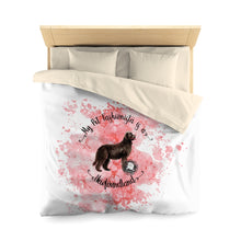 Load image into Gallery viewer, Newfoundland Pet Fashionista Duvet Cover