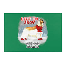 Load image into Gallery viewer, Afghan Hound Best In Snow Area Rug