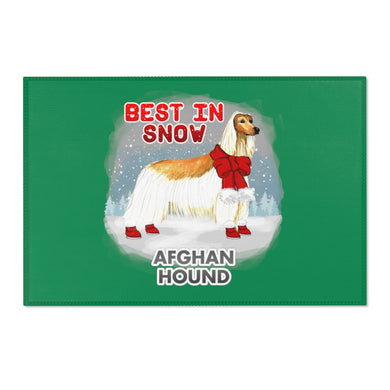 Afghan Hound Best In Snow Area Rug