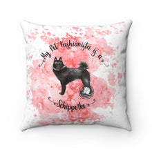 Load image into Gallery viewer, Schipperke Pet Fashionista Square Pillow