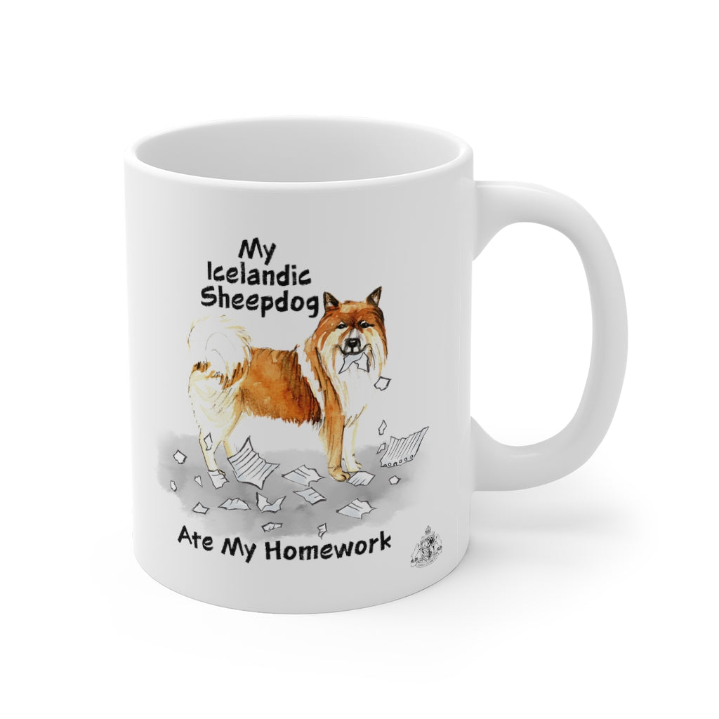My Icelandic Sheepdog Ate My Homework Mug