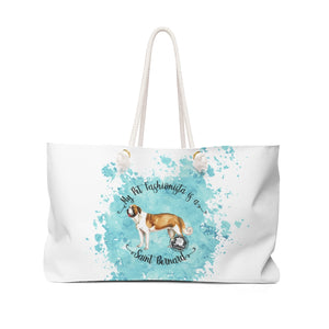 Saint Bernard Pet Fashionista Weekender Bag