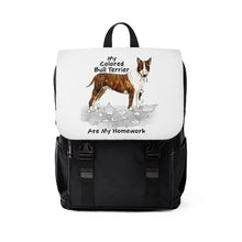 Load image into Gallery viewer, My Colored Bull Terrier Ate My Homework Backpack