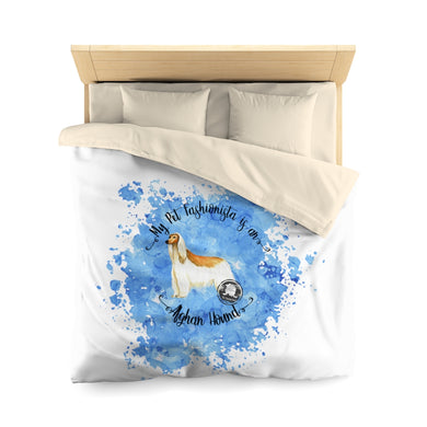 Afghan Hound Pet Fashionista Duvet Cover